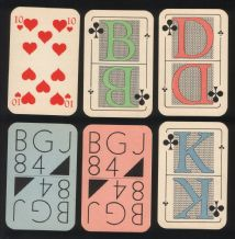 Collectible Non-standard court playing cards BGJ '84.